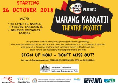 Warang Kaddatji Theatre Project 2018-2019 – Register Your Interest
