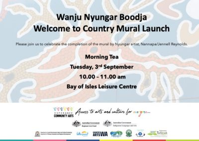Wanju Nyungar Boodja  Welcome to Country Mural Launch: Third Mural