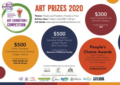 New Prizes Announced – Act-Belong-Commit Esperance Wildflower Festival Art Competition and Exhibition