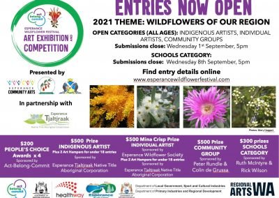 2021 Act-Belong-Commit Esperance Wildflower Festival Art Exhibition and Competition